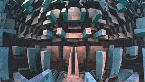 fundo 3d geométrico Fotos de Stock