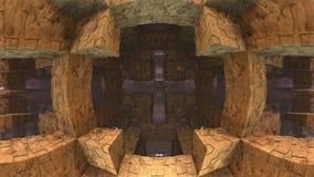 fundo 3d geométrico Fotografia de Stock Royalty Free