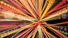 Fundo 3D geométrico abstrato Superfície geométrica no movimento filme