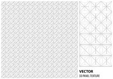 Fundo 3d geométrico branco abstrato Textura sem emenda branca com sombra Textura branca limpa simples do fundo inte do vetor 3D Fotografia de Stock Royalty Free