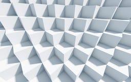 fundo 3d monocromático com cubos Fotos de Stock