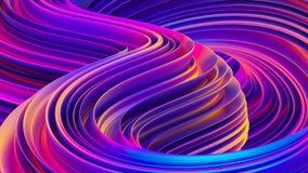 Fundo 3D ondulado holográfico do sumário líquido das formas ilustração stock