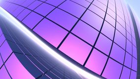 fundo 3D roxo geométrico abstrato Fotografia de Stock Royalty Free