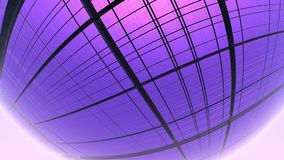 fundo 3D roxo geométrico abstrato Fotos de Stock Royalty Free
