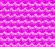 Fundo 3d sem emenda com corações cor-de-rosa brilhantes Fotos de Stock Royalty Free
