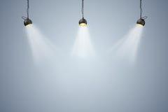 fundo 3d setup com lâmpadas da iluminação Fotografia de Stock Royalty Free