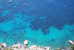 Fundo da água de mar azul Imagens de Stock