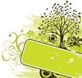 Fundo da árvore de Grunge, vetor Fotografia de Stock Royalty Free