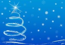 Fundo da árvore de Natal ilustração stock