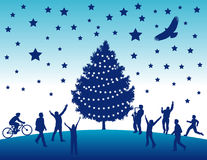 Fundo da árvore de Natal   Foto de Stock Royalty Free
