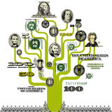 Fundo da árvore do dinheiro ilustração stock
