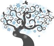 Fundo da árvore do inverno. ilustração do vetor Imagem de Stock