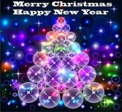 Fundo da árvore dos círculos com o brilho de néon Imagem de Stock Royalty Free
