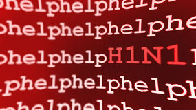 Fundo da ajuda H1N1 Fotos de Stock