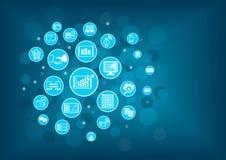 Fundo da Aleta-tecnologia (tecnologia financeira) Inovação da tecnologia da informação dentro da operação bancária Fotos de Stock Royalty Free