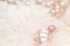 Fundo da aliança de casamento Foto de Stock