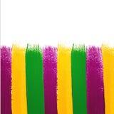 Fundo da aquarela de Mardi Gras do vetor Fotografia de Stock