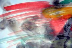 Fundo da aquarela e papel queimado Imagens de Stock