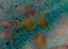 Fundo da aquarela em cores vívidas do outono com textura de papel Fotografia de Stock