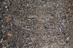 Fundo da areia, da pedra e da água Imagens de Stock Royalty Free