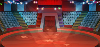 Fundo da arena do circo Imagens de Stock Royalty Free