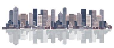 Fundo da arquitectura da cidade, arte urbana ilustração stock