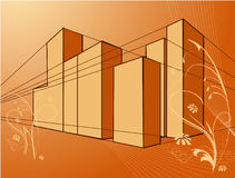 Fundo da arquitetura Imagem de Stock