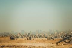Fundo da arquitetura da cidade no Cairo, Egito Foto de Stock Royalty Free