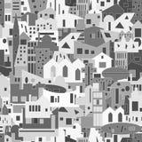 Fundo da arquitetura da cidade, teste padrão sem emenda para seu projeto Imagem de Stock Royalty Free