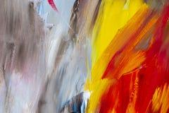 Fundo da arte abstrata Pintura a óleo na lona Decoração, colo Fotografia de Stock Royalty Free