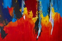 Fundo da arte abstrata Pintura a óleo na lona Decoração, colo Imagens de Stock
