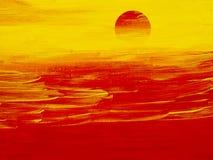 Fundo da arte abstrata Pintura a óleo na lona Fragmento da arte finala Pontos da pintura de óleo Pinceladas da pintura Arte moder ilustração royalty free