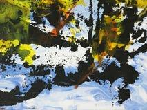 Fundo da arte abstrato, pintura da textura Fotos de Stock Royalty Free