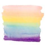 Fundo da arte da aquarela do arco-íris Fotos de Stock