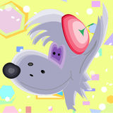 Fundo da arte das crianças do lobo cinzento Ilustração Royalty Free