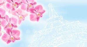 Fundo da arte de Paris com Imagens de Stock