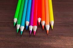 Fundo da arte, lápis coloridos Foto de Stock Royalty Free