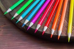 Fundo da arte, lápis coloridos Fotos de Stock