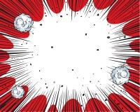 Fundo da banda desenhada ilustração do vetor