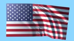 Fundo da bandeira americana, animação ilustração stock