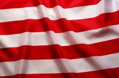 Fundo da bandeira americana com as listras vermelhas e brancas fotos de stock royalty free