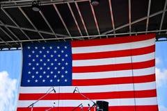 Fundo da bandeira americana em uma fase Fotografia de Stock