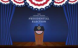 Fundo da bandeira da eleição presidencial Fotografia de Stock Royalty Free