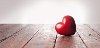 Fundo da bandeira do coração do amor Imagens de Stock Royalty Free