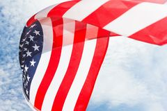 Fundo da bandeira dos EUA, Dia da Independência, símbolo julho de quarto Imagens de Stock