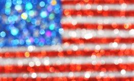 Fundo da bandeira dos EUA - fundo glittery sparkly Fotos de Stock