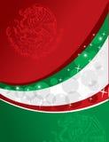 Fundo da bandeira mexicana ilustração do vetor