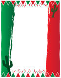Fundo da bandeira mexicana Imagens de Stock