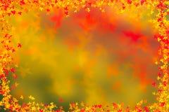 Fundo da beira das folhas de outono Conceito da ação de graças Fotografia de Stock Royalty Free