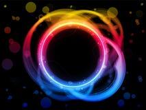 Fundo da beira do círculo do arco-íris Imagens de Stock Royalty Free